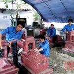 Tôn tạo nghĩa trang thanh niên tình nguyện hy sinh tại cống Hiệp Hòa