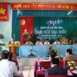 Đại hội Đảng bộ xã Tân Sơn.