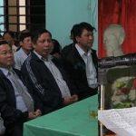 Đ/c Nguyễn Tất Thành Chủ tịch UBND huyện dự ngày hội đại đoàn kết tại xóm 3, xã Tân Sơn.