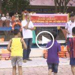 Đô Lương tổ chức các lớp học bơi cho tre em trong dịp hè
