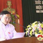 Đại biểu HĐND tỉnh, đại biểu HĐND huyện tiếp xúc cử tri xã Minh Sơn