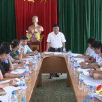 Đồng chí Ngọc Kim Nam – Chủ tịch UBND huyện làm việc với UBND xã Nam Sơn