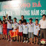 Đội tuyển bóng đá thiếu niên, nhi đồng xã Lưu Sơn giành chức vô địch năm 2016