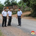 Đồng chí Ngọc Kim Nam- Chủ tịch UBND huyện kiểm tra tuyến đường Khuôn – Đại Sơn