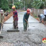 Thuận Sơn: Xây dựng 650 m đường bê tông nông thôn