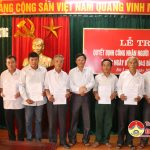 Huyện ủy Đô Lương: Trao quyết định công nhận người hoạt động cách mạng trước ngày 1/1/1945 đã hi sinh, từ trần