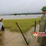 Đồng chí Đinh Viết Hồng – Phó chủ tịch UBND Tỉnh và đồng chí Ngọc Kim Nam – Chủ tịch UBND huyện kiểm tra tình thiệt hại sản xuất nông nghiệp do mưa lụt gây ra.