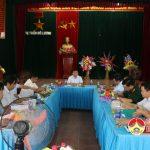Đồng chí Ngọc Kim Nam – Chủ tịch UBND huyện làm việc với UBND Thị trấn về tình hình phát triển kinh tế – xã hội và nhiệm vụ trọng tâm trong thời gian tới.