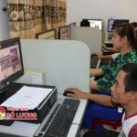 Trung tâm Văn hóa thông tin và thể thao phối hợp với người khuyết tật tổ chức tập huấn sử dụng máy tính