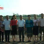 Đoàn công tác tỉnh Xiêng Khoảng tham quan đập Bara Đô Lương