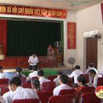 Thường trực HĐND huyện làm việc với HĐND xã Minh Sơn.