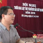 UBND huyện Đô Lương tổ chức hội nghị triển khai luật thu y và bổ cứu sản xuất vụ đông 2016.