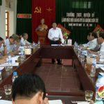 Thường trực huyện ủy làm việc với Đảng ủy xã Giang Sơn Tây