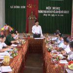 Thường trực huyện ủy làm việc với xã Đông Sơn.