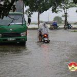 Đô Lương xảy ra mưa lớn gây ngập úng ở nhiều nơi