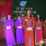 Hội phụ nữ xã Nam Sơn tổ chức hội thi sắc đẹp, tài năng, phụ nữ duyên dáng, áo dài truyền thống.