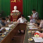 Thường trực huyện ủy làm việc với Trung tâm văn hóa