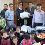 Công ty Prex Vinh tặng học sinh nghèo Đô Lương 212 chiếc áo ấm