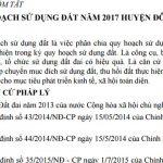 Báo cáo tóm tắt Kế hoạch sử dụng đất năm 2017 huyện Đô Lương