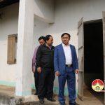 Đồng chí Ngọc Kim Nam – Chủ tịch UBND làm việc với  trường mầm non xã Quang Sơn