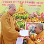 Chùa Phúc Yên xã Ngọc Sơn, Đô Lương tổ chức lễ công bố quyết định bổ nhiệm chủ trì.