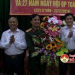Ban chỉ huy quân sự huyện Đô Lương tọa đàm gặp mặt kỷ niệm 72 năm ngày thành lập quân đội nhân dân Việt Nam.
