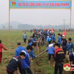 Huyện đoàn Đô lương tổ chức ra quân hành động giúp xã Lưu Sơn làm giao thông thủy lợi