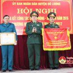 Đô Lương tổ chức tổng kết công tác Quốc phòng an ninh năm 2016