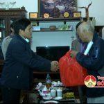 Lãnh đạo huyện Đô Lương đi thăm, tặng quà tết cho các đồng chí lãnh đạo huyện đã nghỉ hưu