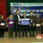 Ngân hàng CPTM Đầu tư& Phát triển Nghệ An tặng 300 suât quà tết cho các hộ nghèo tại huyện Đô Lương và Anh Sơn