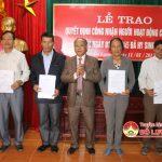 Huyện ủy Đô Lương tổ chức lễ trao Quyết định công nhận người hoạt động cách mạng trước ngày 1/1/1945.