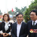 Đồng chí Hồ Mậu Thanh – Giám đốc Sở Văn hóa – Thể thao kiểm tra công tác chuẩn bị lễ hội Đền Quả Sơn