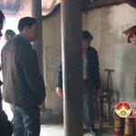 Phòng cảnh sát PC&CC só 5 kiểm tra công tác đảm bảo an toàn cháy nổ tại Đền Quả Sơn.