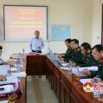 Đảng bộ quân sự huyện tổ chức hội nghị kiểm điểm NQTW 4 khóa XII