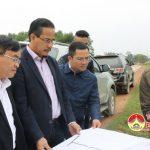 Đồng chí Ngọc Kim Nam – Chủ tịch UBND huyện làm việc với một số doanh nghiệp về công tác xúc tiến đầu tư trên địa bàn.