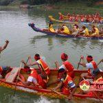 Đô Lương tổ chức lễ hội dua thuyền tại Đền Quả Sơn