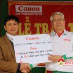 Công ty Cannon Việt Nam tổ chức lễ trao tặng quà  cho trường THCS xã Bài Sơn
