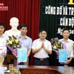 Đô Lương tổ chức lễ công bố và trao quyết định luân chuyển cán bộ quản lý UBND huyện