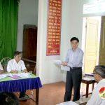 Đồng chí Nguyễn Văn Thông – Phó bí thư tỉnh ủy tham dự hội nghị kiểm điểm theo NQTW4 xóm 5, xã Thịnh Sơn