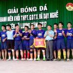 Đội bóng trường THPT Đô Lương 1 đoạt chức vô địch giải bóng đá THPT năm 2017.