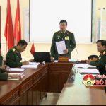 BCHQS huyện Đô Lương: Tổ chức luyện tập chuyển trạng thái sẵn sàng chiến đấu.