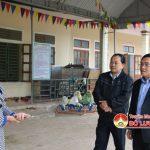 Đồng chí Ngọc Kim Nam – Chủ tịch UBND huyện kiểm tra tiến độ thực hiện các tiêu chí xây dựng nông thôn mới