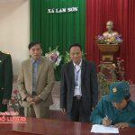 Xã Lam Sơn khai mạc huấn luyện quân sự năm 2017
