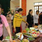 Hội phụ nữ xã Mỹ Sơn tổ chức hội thi nấu ăn