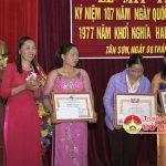 Hội phụ nữ xã Tân Sơn mít tinh kỉ niệm ngày quốc tế phữ nữ 8/3