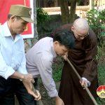 Hội từ thiện chùa Phúc Mỹ khởi công xây dựng nhà tình nghĩa cho bà Trần Thị Phương