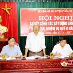 BCH Đảng bộ huyện sơ kết công tác xây dựng Đảng quý I, triển khai nhiệm vụ quý II năm 2017.
