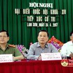 Đại biểu Quốc hội tiếp xúc cử tri tại xã Lam Sơn