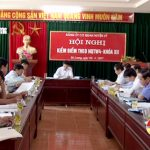 Đảng ủy cơ quan huyện ủy tổ chức hội nghị kiểm điểm NQTW 4 khóa XII.