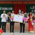 Tràng Sơn đón nhận danh hiệu xã đạt chuẩn NTM